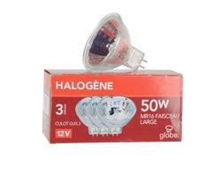 Ampoules-réflecteurs halogènes , MR16 (GU5.3) 50 W , (Paquet de 3)