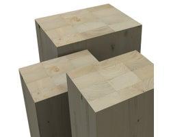 Colonne en bois lamellé-collé NORDIC LAM 31/2pox51/2pox10pi