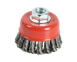 Grinder Coarse Knotted Wire Cup Brush 2-1/2 in.