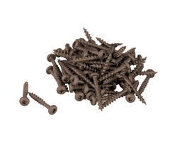 Brown Treated Wood Screws 1 in. #6 R.H. (100-Pack)