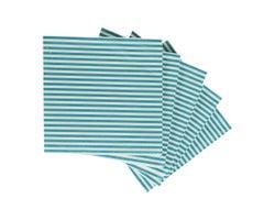 Serviettes de table Lignée turquoise (Paquetde20)