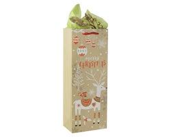 Sac cadeau de Noël Bouteille de vin