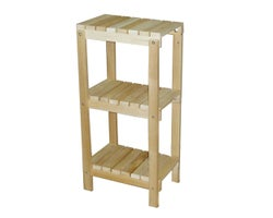 3-Tier Cedar Shelf , 16 in. x 11 in. x 32 in.