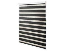 Alternating Strip Roller Blind 44 in. x 84 in. Black