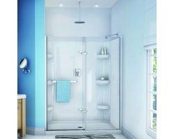 Porte de douche à pivot Reveal 60 po