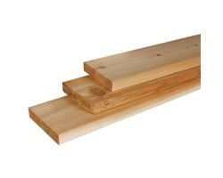 Knotted Cedar Timber, 2 in. x 10 in. x 16 ft.