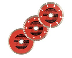 3-Pc. Grinder Diamond Blade Set 4-1/2 in.