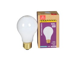 A19 Anti-Shock Incandescent Light Bulb 100 W
