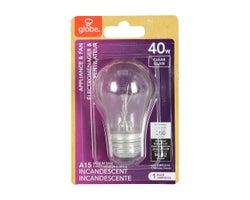 Ampoule incandescente pour électroménagers et ventilateurs A15, 40 W