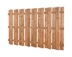 Square Brown Treated Wood Fence 5 ft. x 8 ft.