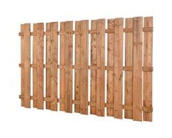 Clôture en bois traité brun carrée 5 pi x 8 pi
