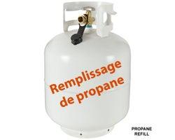Remplissage de propane 20 lb