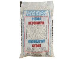 1/2 in. - 3/4 in. White Decorative Stone 20 kg
