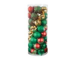 Boules de Noël 2 3/4 po - 3 1/8 po(Paquet de 50)