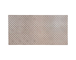 PVC Privacy LatticeWalnut 1 in.