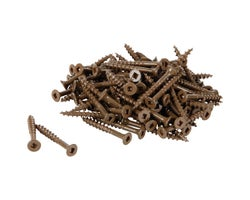 Brown Treated Wood Screws 2 in. #6 F.H. (100-Pack)