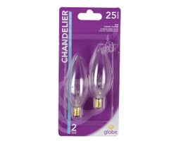 Incandescent Candle Bulbs 25 W (2-Pack)