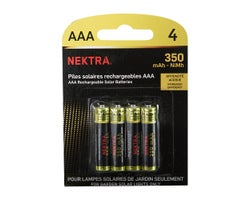 Solar Light Rechargeable AAA Batteries (4-Pack)