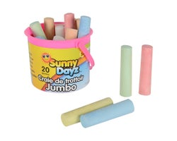 Jumbo Sidewalk Chalks (20-Pack)