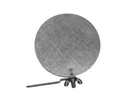 Galvanized Round Damper with Key 5 in.