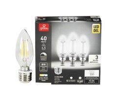 B10 Daylight LED Light Bulb 4.5W (3-Pack)