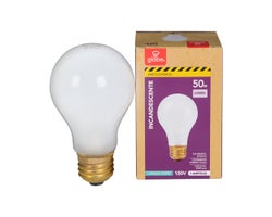 A19 Anti-Shock Incandescent Light Bulb 50 W