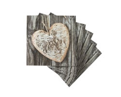 Table Napkins Wood Effect (20-Pack)