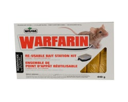 Ensemble de point d'appât à souris Warfarin 448 g
