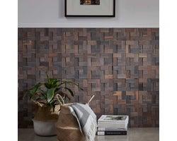 Mosaic Wooden Panelling, Oak Grey