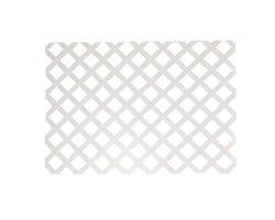 White PVC Classic Lattice4 ft.x 8 ft. (2-5/8 in. squares)