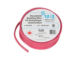 Interior Electrical Wire NMD-90, 12/2 Red 5 m