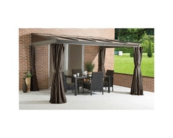 Pompano Wall-Mounted Sun Shelter 10 ft. x 12 ft.