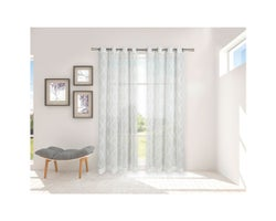 Sheer Grommet Curtain 54 in. x 84 in. (2-Pack)
