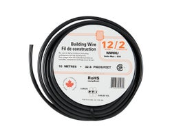 Exterior Electrical WireNMW-U - 12/2 Black10 m