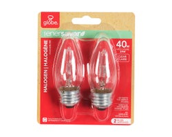 Halogen Candle Bulbs 29 W (2-Pack)