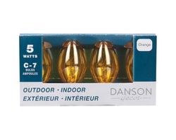 Christmas C7 Bulbs 5 W, Gold (4-Pack)