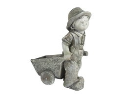 Decorative Boy & Wheelbarrow