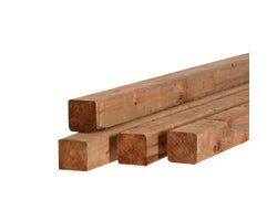 Brown Treated Lumber 4 in. x 4 in. x 10 ft.