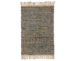 Deco Leather & Jute Rug 5 ft. x 7 ft. Grey