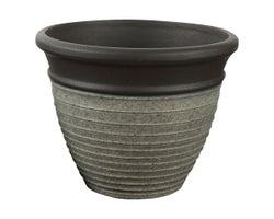 Pot à fleurs Sillon 14 po