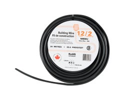 Exterior Electrical Wire, NMW-U - 12/2 Black, 20 m