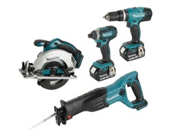 4 Pc 18 V Lithium-Ion Cordless Combo Set