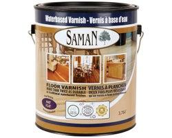 Flat Water-Based Floor Varnish 3.78 L