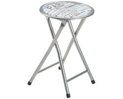 Paris Cushioned Folding Stool