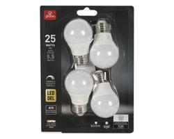 A15 LED Light Bulb Cool White 5.5 W  (4-Pack)