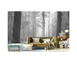 12 ft. x 8 ft. Play of Lights Wallpaper Mural in Black and White
