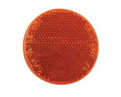 Reflector Self-Adhesive for Trailer Round Amber