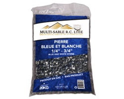 1/4 in. - 3/4 in. Blue & White Decorative Stone 20 kg