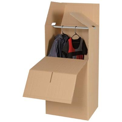 Boîte/garde-robe en carton 23 po x 47 po