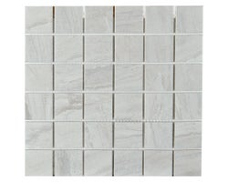 Travertin Porcelain Mosaic 12 in. x 12 in.